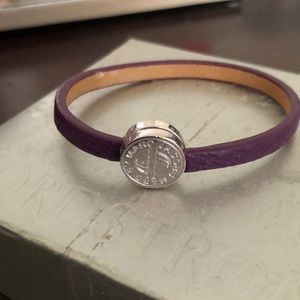 Brand new Marc Jacobs purple leather bracelet